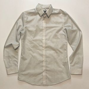 H&M WHITE PATTERN DRESS SHIRT